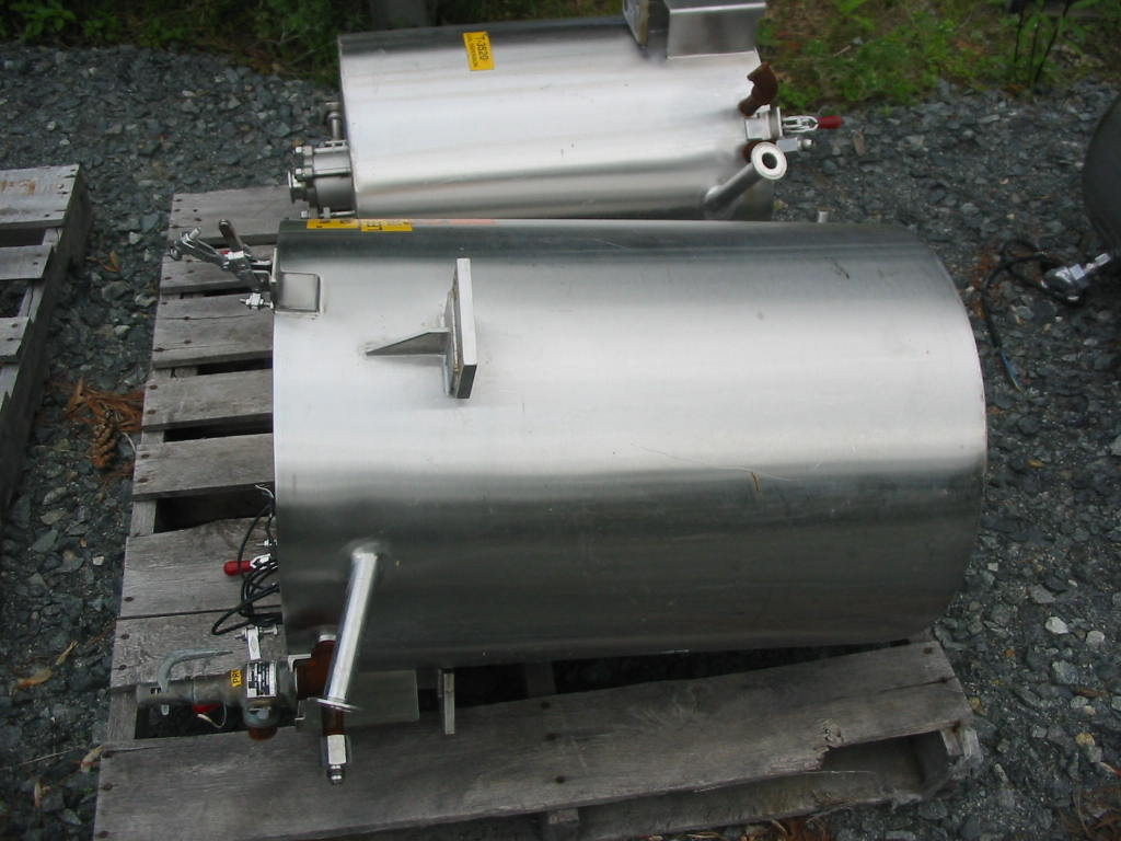 15 gal. Vertical Jacketed Open Top Tank, Sanitary Stainless Steel