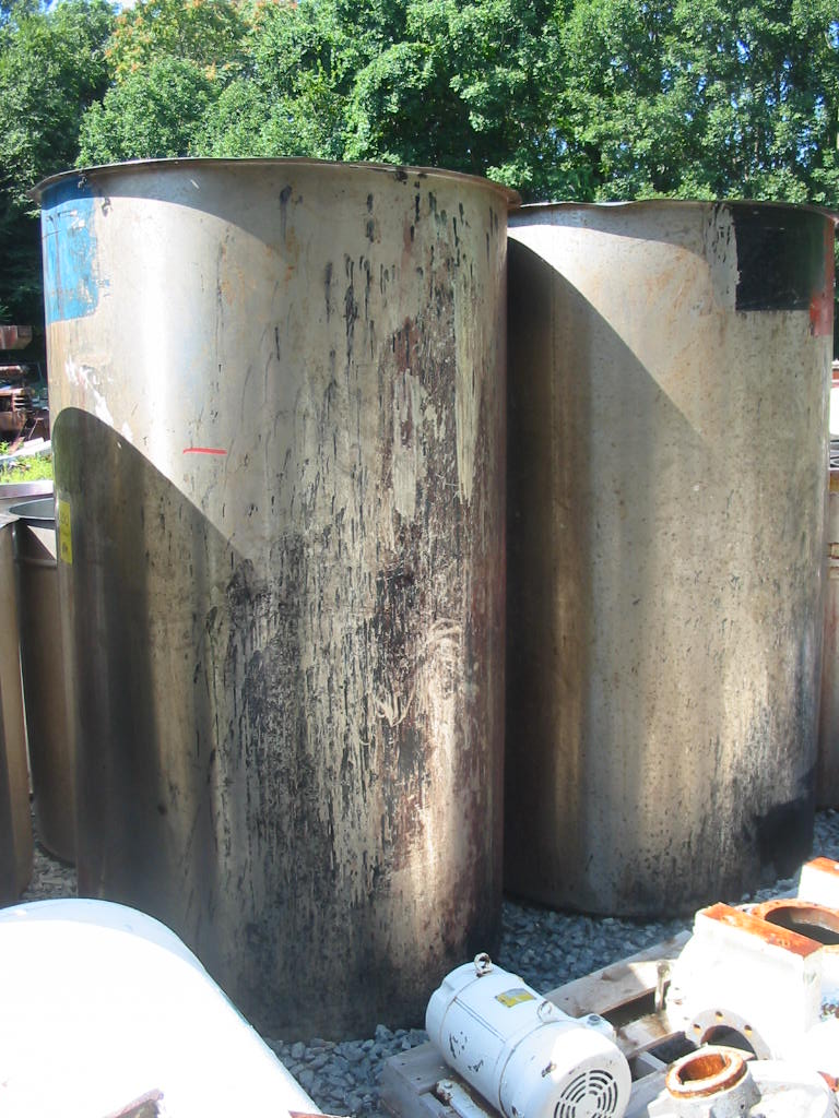 500 Gallon Vertical, Open Top Stainless Steel Tank