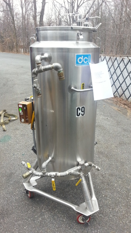 50 gal. Vertical Jacketed, Agitated Tank, Sanitary S/S